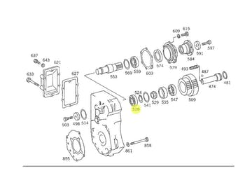 Rolamento de Rolete Cônico do Cubo de Roda - Original Mercedes-Benz - A00598107050064 - Unitário