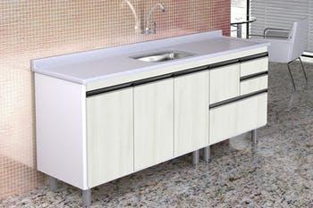 Gabinete para Cozinha Coliseu Madeirado com 2 Gavetas+Gavetão Palissandro Ártico 195,1cm - A.J.Rorato - 586631 - Unitário