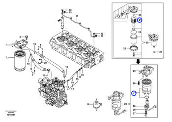 Filtro Separador de Água - Volvo CE - 14536511 - Unitário