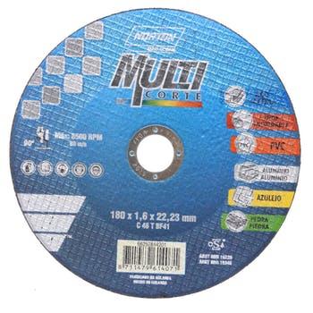 Disco de corte Multicorte 180x1,6x22,23mm - Norton - 66252844201 - Unitário