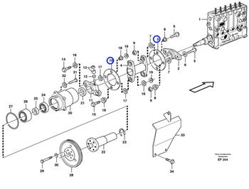 Placa de Arrasto da Bomba Injetora - Volvo CE - 479458 - Unitário