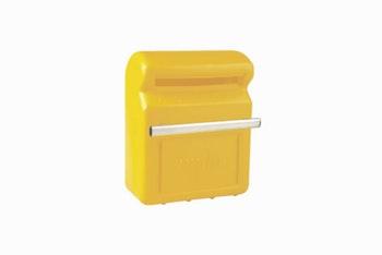 Caixa de Correio Amarela com Fixação na Grade 20,5cm x 13,5cm x 25,5cm - Astra - CXC1*Amarelo - Unitário