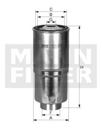 Filtro de Combustível Separador de Água - Mann-Filter - WK920/1 - Unitário