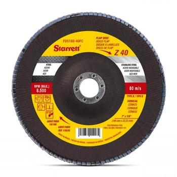 Disco Flap em Fibra de Vidro - Starrett - FDS180-40FC - Unitário