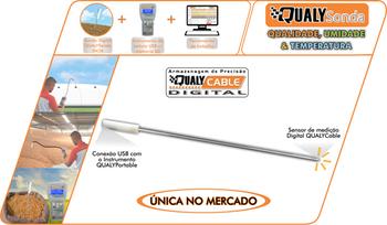 Instrumento Portátil USB QualySonda - sem software - Qualyagro - QualyAgro - 13861 - Unitário