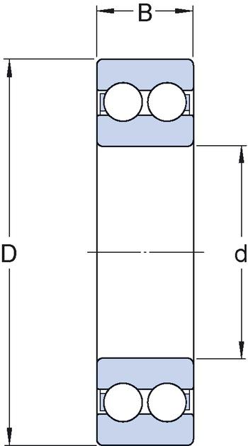 Rolamento Rígido de Esferas - SKF - 6211 N/C3 - Unitário