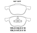Pastilha de Freio - Nakata - NKF 1267P - Par