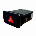Interruptor de Pisca Alerta Audi/Vw 1J0953235C/ 1J0953235J - 7 Terminais 12V Chave Comutadora - DNI - DNI 2113 - Unitário