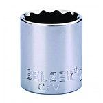 """Soquete de Encaixe 1/2"""" com Perfil Estriado de 16mm - Belzer - 204007BBR - Unitário"""