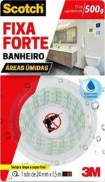 Fita Dupla Face 3M Scotch® - Banheiros - 24 mm x 1,5 m - 3M - HB004488316 - Unitário