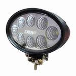 Farol Auxiliar de Trabalho Oval com 8 LEDs 24W - DNI 4165 - DNI - DNI 4165 - Unitário