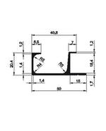 Perfil Puxador de Alumínio SP-0046/L Fosco Ácido 18mm c/3m SP Alumínio