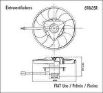 Eletroventilador - Valeo - 698635R - Unitário