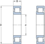 Rolamento de Rolos Cilíndricos - SKF - NJ 212 ECP - Unitário