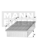 Filtro de Ar 3008 2014 - Mann-Filter - C36003 - Unitário