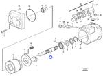 Eixo do Sistema Hidráulico - Volvo CE - 11708739 - Unitário