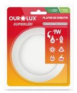 Lâmpada Plafon LED Blister Embutir 15W Bivolt 6400K - Ourolux - 03178 - Unitário