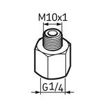 Pino graxeiro G1/4 – M10 x 1 - SKF - LAPN 10x1 - Unitário
