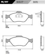 Pastilha de freio - Fras-le - PD/497 - Par