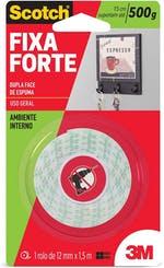 Fita Dupla Face 3M Scotch® Fixa Forte Espuma - 12 mm x 1,5 m - 3M - HB004087647 - Unitário