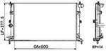 Radiador de Resfriamento - Valeo - 732804R - Unitário