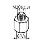 Pino graxeiro G1/4 – M10 - SKF - LAPN 10 - Unitário