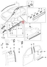 Moldura de Acabamento Traseira do Spoiler Lado Esquerdo 1999/2002 - Original Chevrolet - 93321481 - Unitário