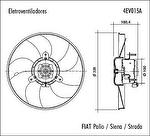 Eletroventilador - Valeo - 4EV015A - Unitário