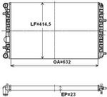 Radiador de Resfriamento - Valeo - 735124R - Unitário