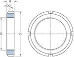 Porca de fixação - SKF - KM 21 - Unitário