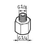 Pino graxeiro G1/4 – G1/8 - SKF - LAPN 1/8 - Unitário