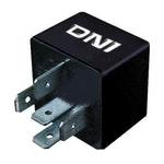 Relé Auxiliar Duplo Contato N.A com Resistor Fiat / Iveco / Volvo / Scania - 24V 5 Terminais - DNI - DNI 0213 - Unitário