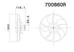 Eletroventilador - Valeo - 700860R - Unitário