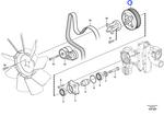 Polia do Ventilador - Volvo CE - 20498714 - Unitário