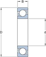 Rolamento de Esferas de Contato Angular - SKF - 7308 BEGBM - Unitário