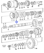 Eixo de Embreagem Hidráulica - Volvo CE - 11145441 - Unitário