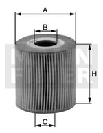 Elemento Filtrante do Óleo Lubrificante ML 230 1998 - Mann-Filter - HU727/1x - Unitário
