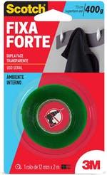 Fita Dupla Face 3M Scotch® Fixa Forte 12mm x 2m - 3M - HB004419873 - Unitário