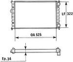 Radiador de Resfriamento - Valeo - 730948R - Unitário