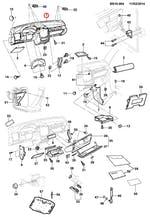 Painel de Instrumentos Com Bandeja Porta Trecos Cinza Com Airbag - Original Chevrolet - 93280280 - Unitário