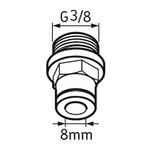 Tubo de conexão macho G3/8 - SKF - LAPF M3/8 - Unitário