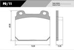 Pastilha de freio - Fras-le - PD/11 - Jogo