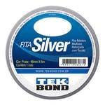 Fita Adesiva Multiuso Reforçada com Tecido Tekbond Silver 48mm x 5m - Tekbond - 21181048000 - Unitário
