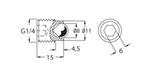 Tampão para dutos de óleo e furos de ventilação - SKF - 233950 E - Unitário