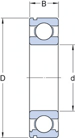 Rolamento da Coluna de Direção - SKF - 6307 NR - Unitário