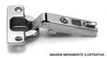 Dobradiça QS Mini Zincada Reta 105° com 10 peças FGVTN