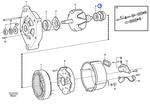 Bucha do Rotor do Alternador - Volvo CE - 1698183 - Unitário