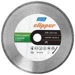 Disco diamantado para corte - porcelanato Standard Clipper - Norton - 70184601444 - Unitário