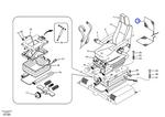 Kit do Aquecedor do Assento do Operador - Volvo CE - 14513754 - Unitário