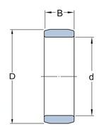 Rolamento de rolos cilíndricos - SKF - NNF 5010 ADB-2LSV - Unitário